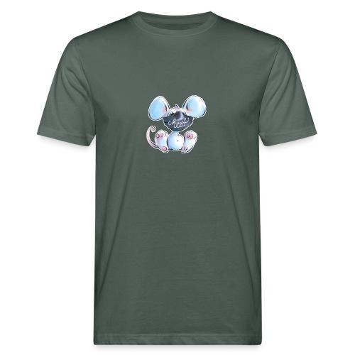 Maskenmaus - Männer Bio-T-Shirt