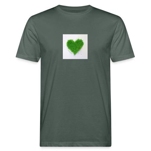 Herzrasen Button - Männer Bio-T-Shirt
