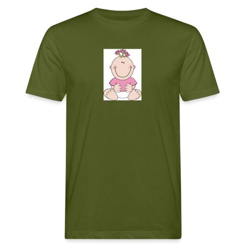 rompertje meisje - Mannen Bio-T-shirt