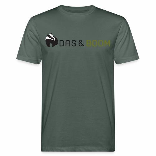 logo das&boom transparant - Mannen Bio-T-shirt