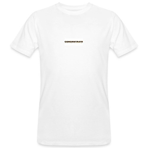 Concentrate on white - Men's Organic T-Shirt