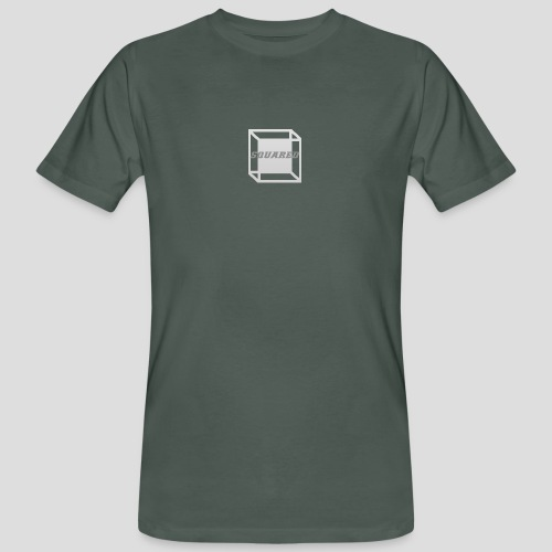 Squared Apparel Logo White / Gray - Men's Organic T-Shirt