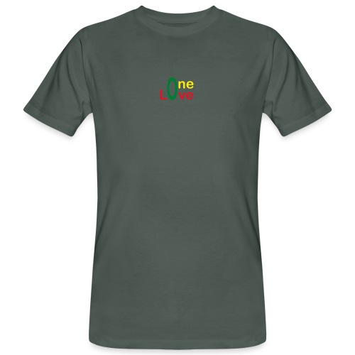 One love 01 Vert jaune rouge - rastafarie - T-shirt bio Homme