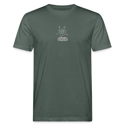 sojo.at Logo (Edelweiß und Sagzahn mit Schriftzug) - Männer Bio-T-Shirt