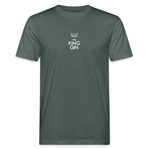 The King Gin Logo weiss - Männer Bio-T-Shirt