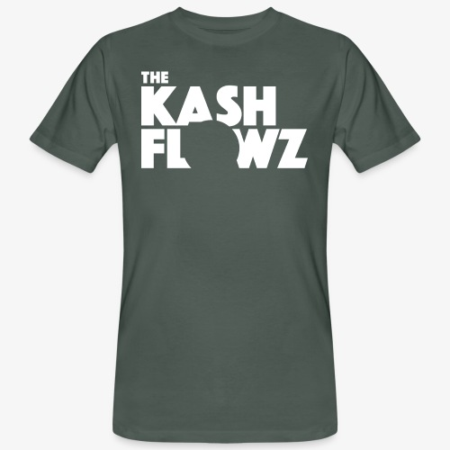The Kash Flowz Official Logo White - T-shirt bio Homme