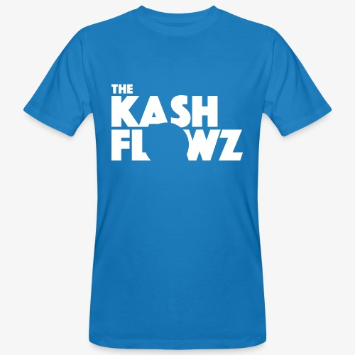 The Kash Flowz Official Logo White - T-shirt bio Homme