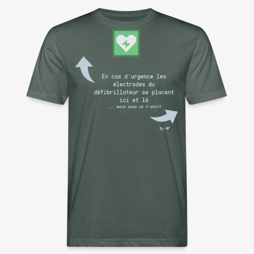 Défibrillateur - T-shirt bio Homme