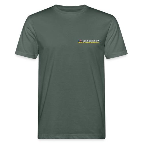 Logo flach für dunkle Shirts - Männer Bio-T-Shirt