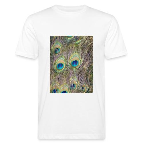 Peacock feathers - Miesten luonnonmukainen t-paita