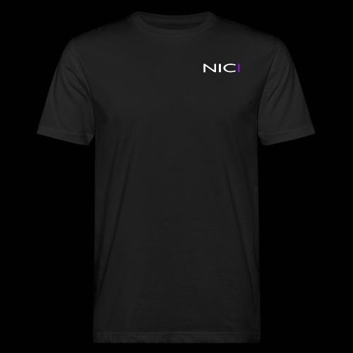NICI logo WHITE - Miesten luonnonmukainen t-paita