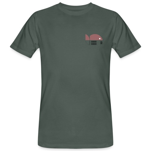 Bio shirt for experts (pink logo) - Men's Organic T-Shirt