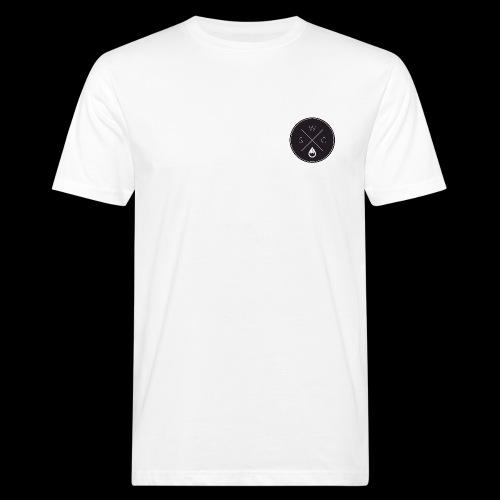 WS-Crew Hipster-Logo rund schwarz - Männer Bio-T-Shirt