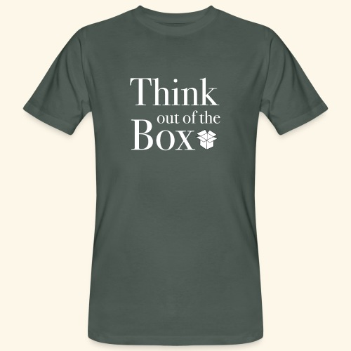 Designed MIndset Thinking Out Of The Box - T-shirt ecologica da uomo