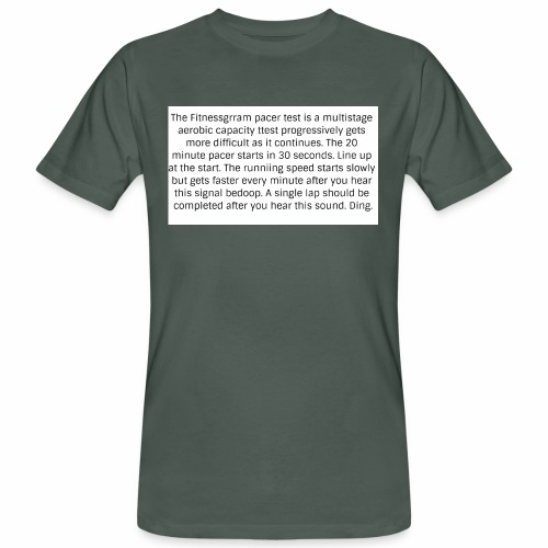 FitnessGram pacer Test - Men's Organic T-Shirt