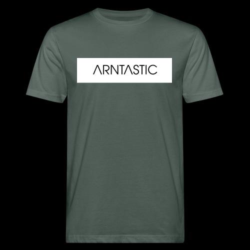 ARNTASTIC balken weiss - Männer Bio-T-Shirt