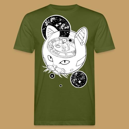 Kosmiczny Kot Imperator - Ekologiczna koszulka męska