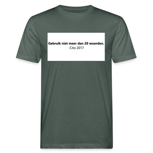 Gebruik niet meer dan 20 woorden - Mannen Bio-T-shirt
