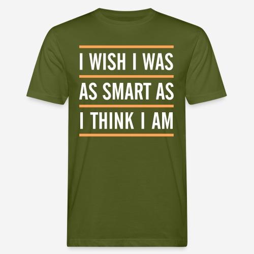 smart denken clever - Männer Bio-T-Shirt