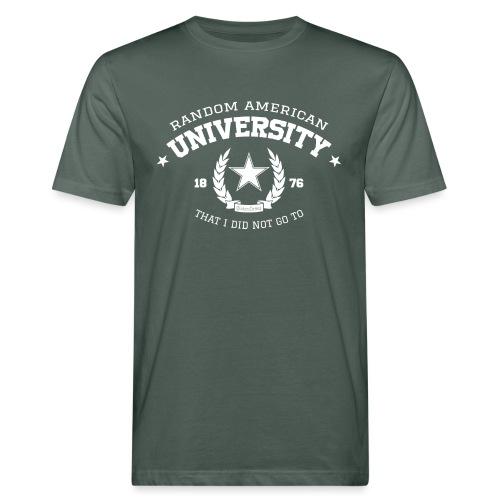 Random University - Mannen Bio-T-shirt