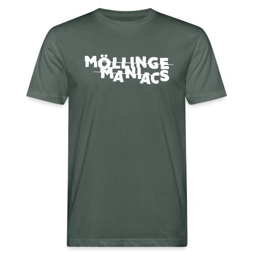 Möllinge Maniacs Vit logga - Ekologisk T-shirt herr