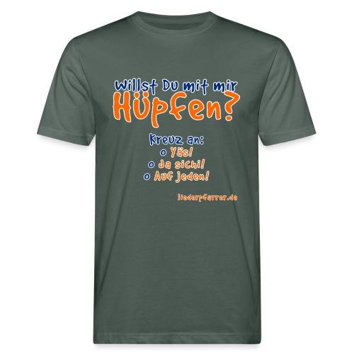 Willst du mit mir hüpfen? - Männer Bio-T-Shirt