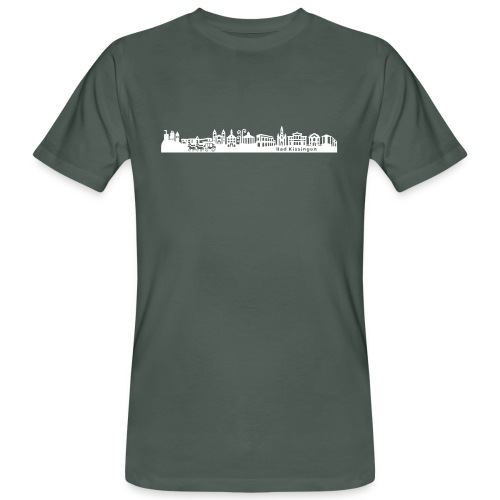 Shilouette Stadt Bad Kissingen - Männer Bio-T-Shirt