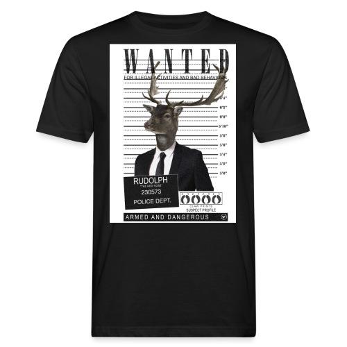 Rudolph wanted - Miesten luonnonmukainen t-paita