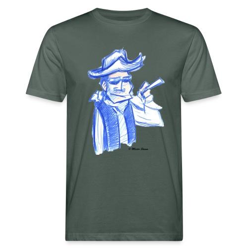 Mister steam Skizze groß - Männer Bio-T-Shirt