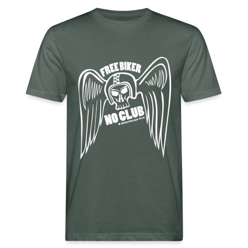 angel alado casco 2 - Camiseta ecológica hombre