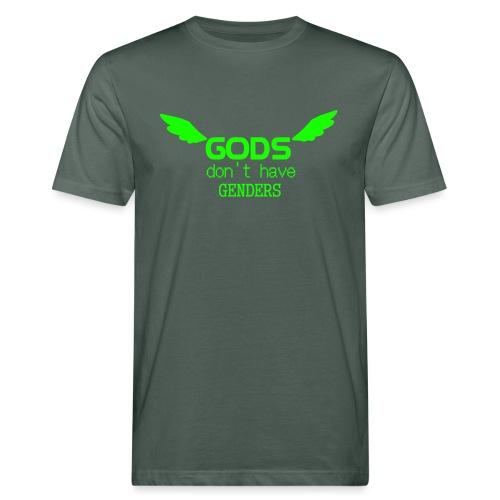 Gods don't have Genders (Green) - Miesten luonnonmukainen t-paita
