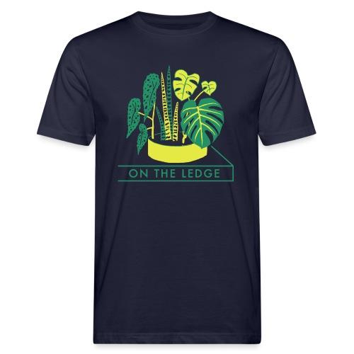 On The Ledge green logo print - Men's Organic T-Shirt