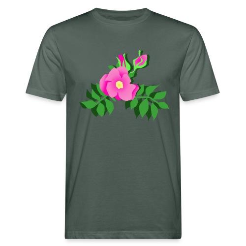 Wildrose - Männer Bio-T-Shirt
