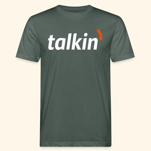 talkin' white on gray - Männer Bio-T-Shirt