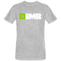 IMB Logo (plain) - Men's Organic T-Shirt - heather grey
