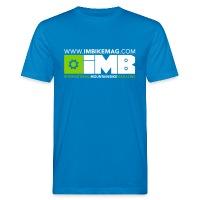 IMB Logo - Men's Organic T-Shirt - peacock-blue