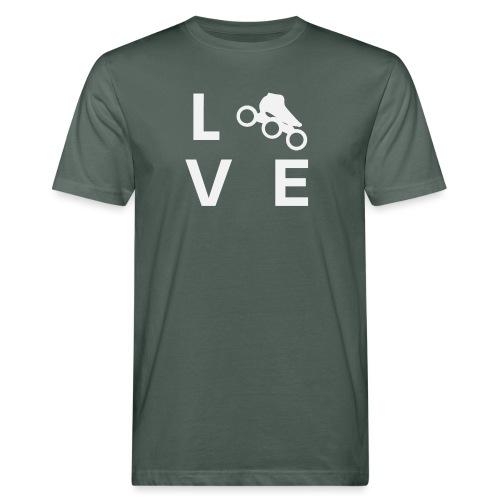 Speedskating Liebe - Männer Bio-T-Shirt