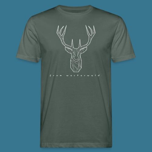 Hirsch. From Westerwald. - Männer Bio-T-Shirt