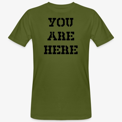 You are here - Männer Bio-T-Shirt