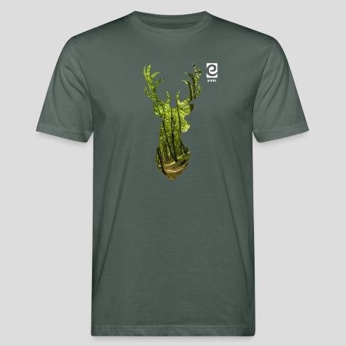 Eifel-Hirsch - weiß - Männer Bio-T-Shirt