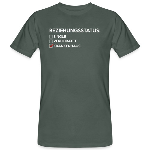 Beziehungsstatus - Krankenhaus - Männer Bio-T-Shirt