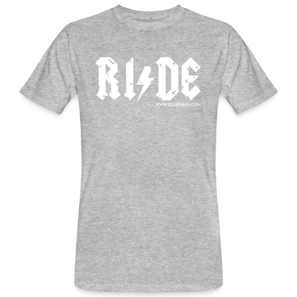 RIDE - Men's Organic T-Shirt - heather grey