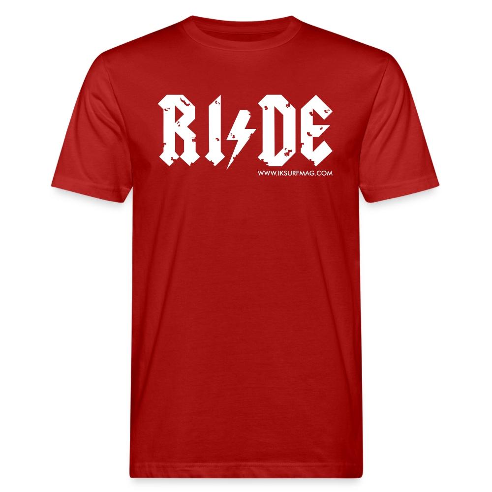 RIDE - Men's Organic T-Shirt - dark red