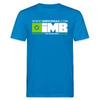 IMB Logo - Men's Organic T-Shirt peacock-blue