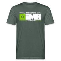 IMB Logo - Men's Organic T-Shirt grey-green