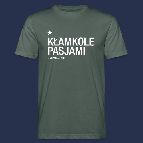 kłamkolę - napis jasny - Ekologiczna koszulka męska