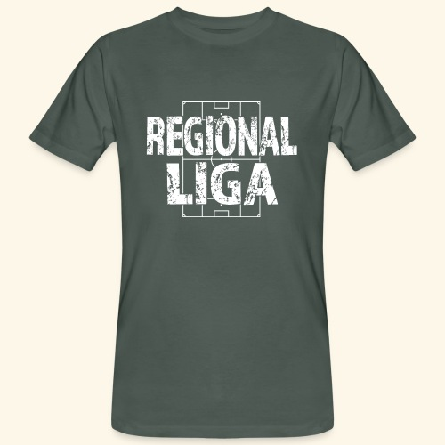 REGIONALLIGA im Fußballfeld - Männer Bio-T-Shirt