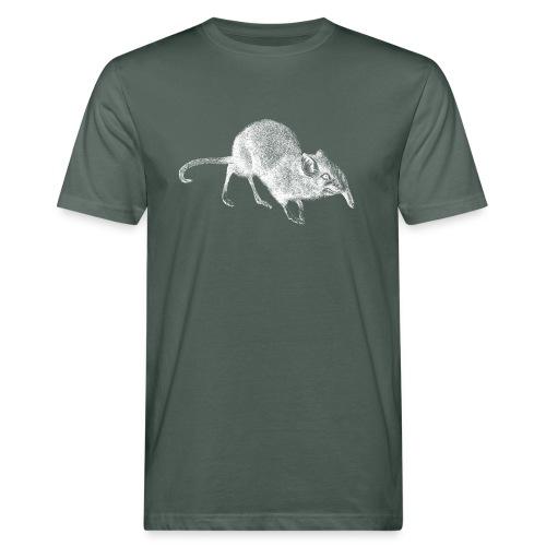 olifantspitsmuis wit - Mannen Bio-T-shirt