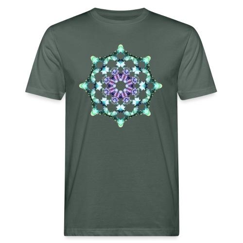 Yoga Mandala Symbol grün - Männer Bio-T-Shirt