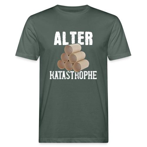 Alter Katastrophe Toilettenpapier | Spruch Lustig - Männer Bio-T-Shirt